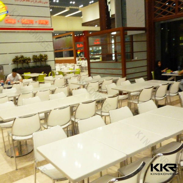 Superficie s lida mesas sillas de patio de comidas for Muebles para restaurantes usados