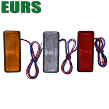 EURS auto parts motorcycle led reflector warning lamp24led 12v white red yellow factory cheap price trailers led side light