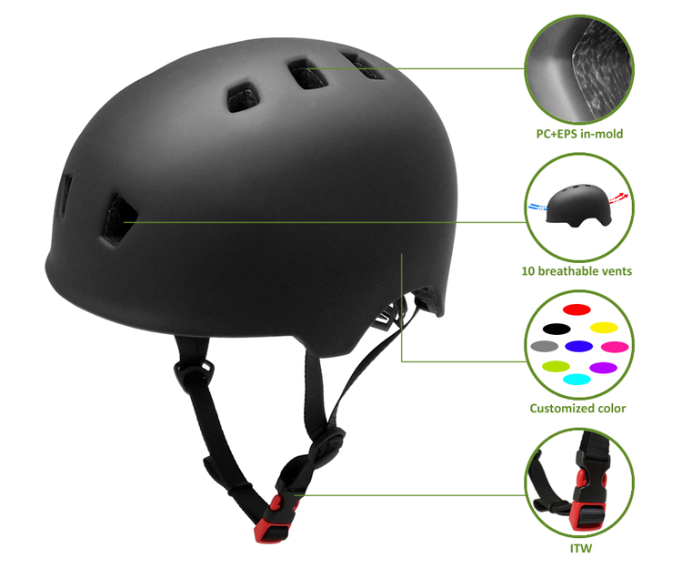 In-mold safety BMX/custom skate helmet 7