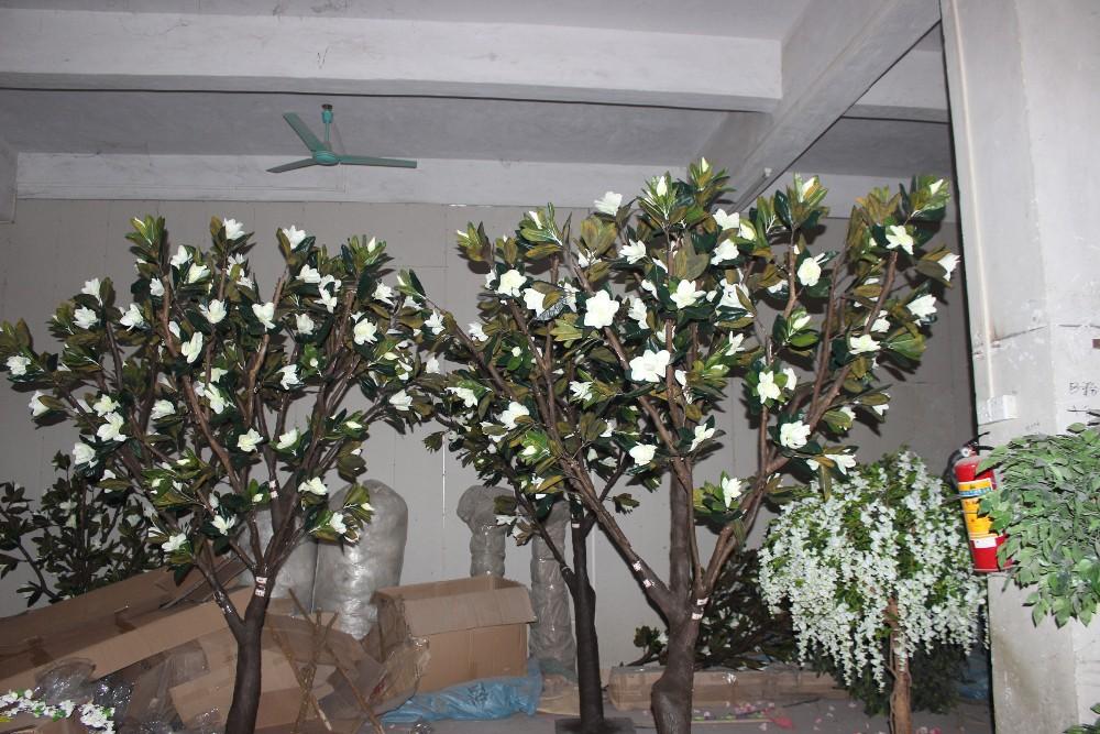 Tall Artificial Magnolia Trees In Wedding Decor Big Artificial