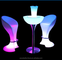 Wholesale waterproof wedding bar glowing bar illuminated led cocktail table led