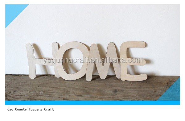"Home wooden word decor 6"" unfinished wood sign wall decor craft"