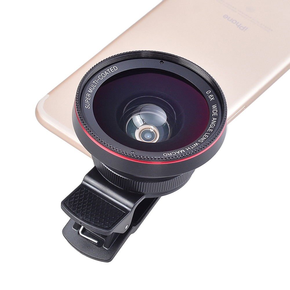 2017 Amazon top seller lens clip HD phone camera wide angle macro 2in1 lens kit