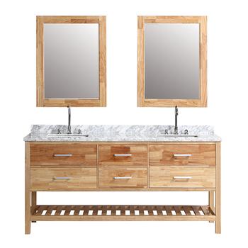Bos 004 Double Sink Solid Wood Bathroom Vanity Top Modern Bathroom