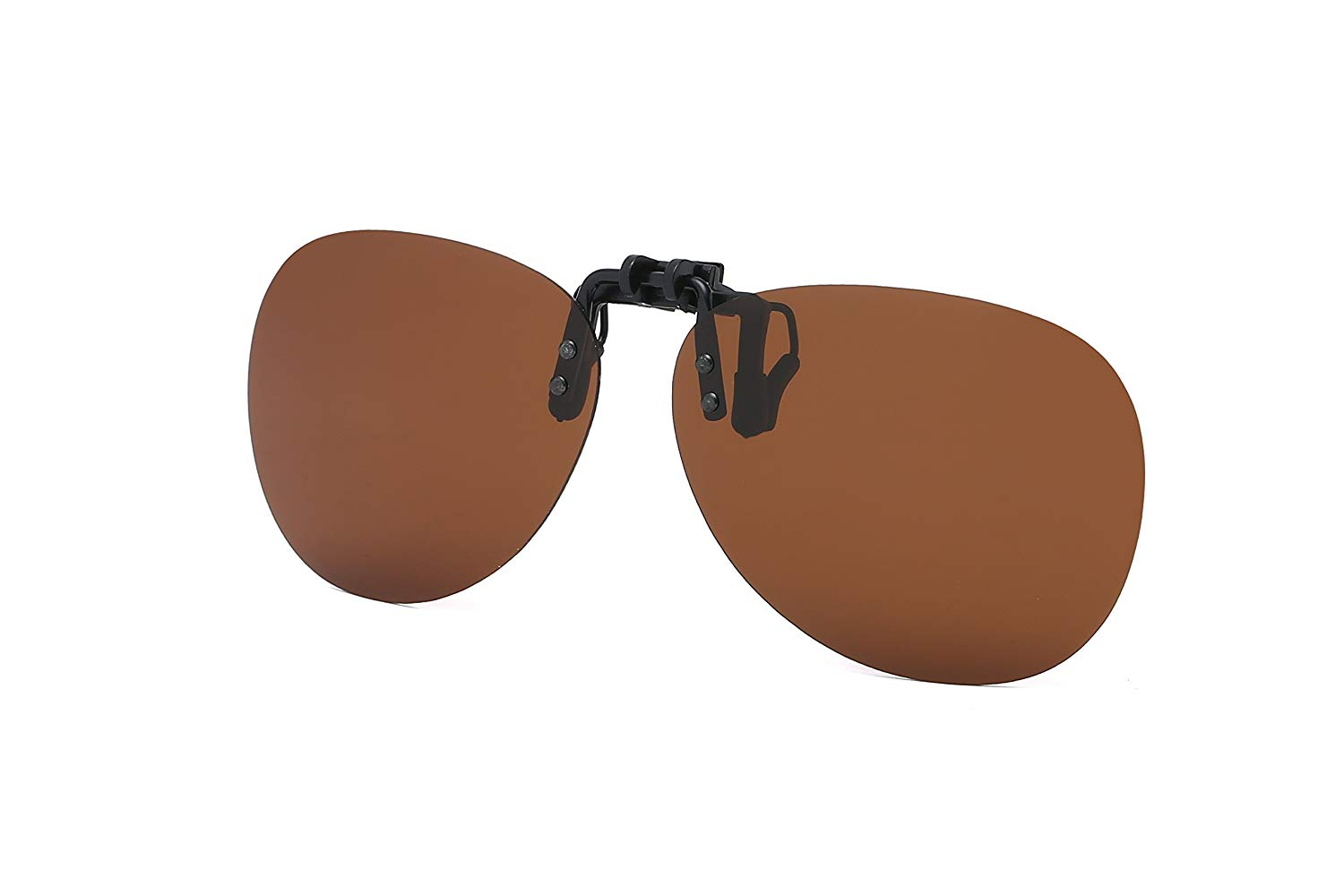 abeebef33a Get Quotations · Retro Polarized Clip-on Flip-up Plastic Sunglasses for Driving  Fishing Traveling