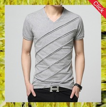 Hot sale popular fashion v-neck sexy t-shirts for men