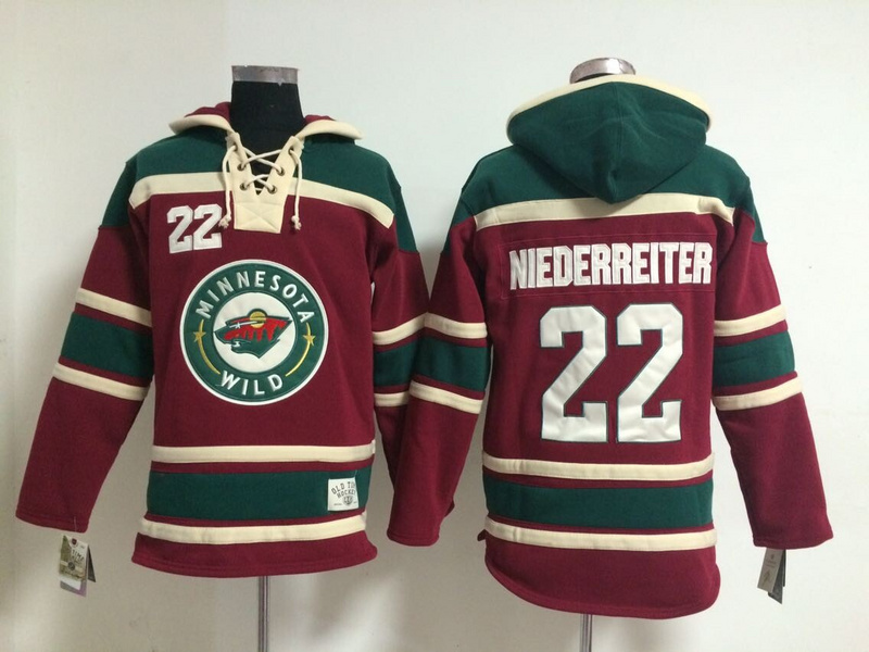 9f4a067246a ... Green Hoodie Mens Ice Hockey Hoodies Minnesota Wild Jersey Sweatshirts  Stitched Logos 22 Nino Niederreiter Red 1245 ...