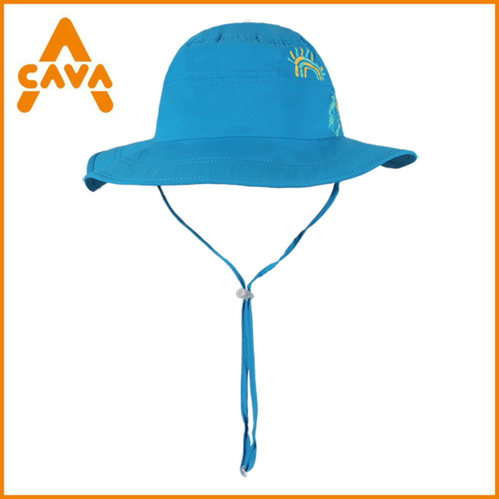 High quality quick dry UV protection flat wide brim kids sun hats children