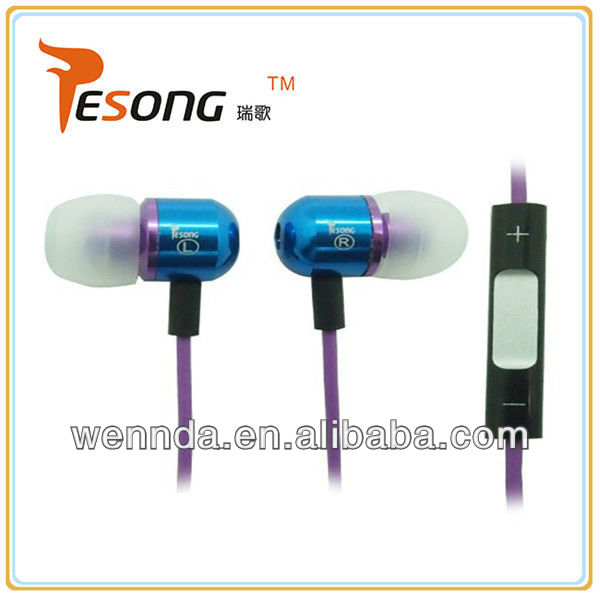 RoHS compliance metal branded earphone for Nokia e63