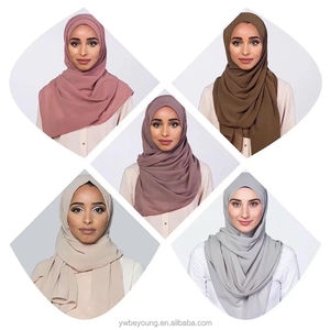 24 colors Wholesale High Quality Chiffon Soft Hijab Women Muslim Hijab