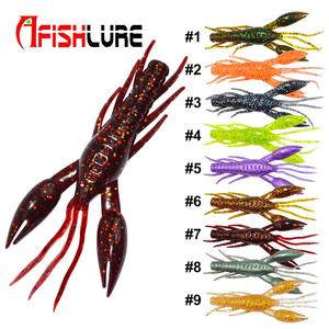 soft prawn shrimp fishing lure baits Small hammer shrimp 80mm 5.5g artificial plastic shrimp bait freshwater fishing