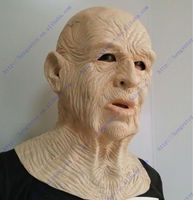 Top highest selling party celebration Fancy Dress Overhead Cosplay Costume Old Man mask for Carnival