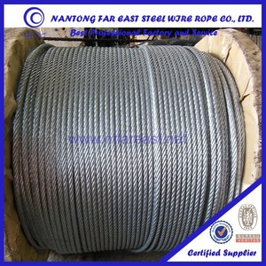 Galvanized steel wire rop 6*37,braided steel cable,steel wire rope certificate