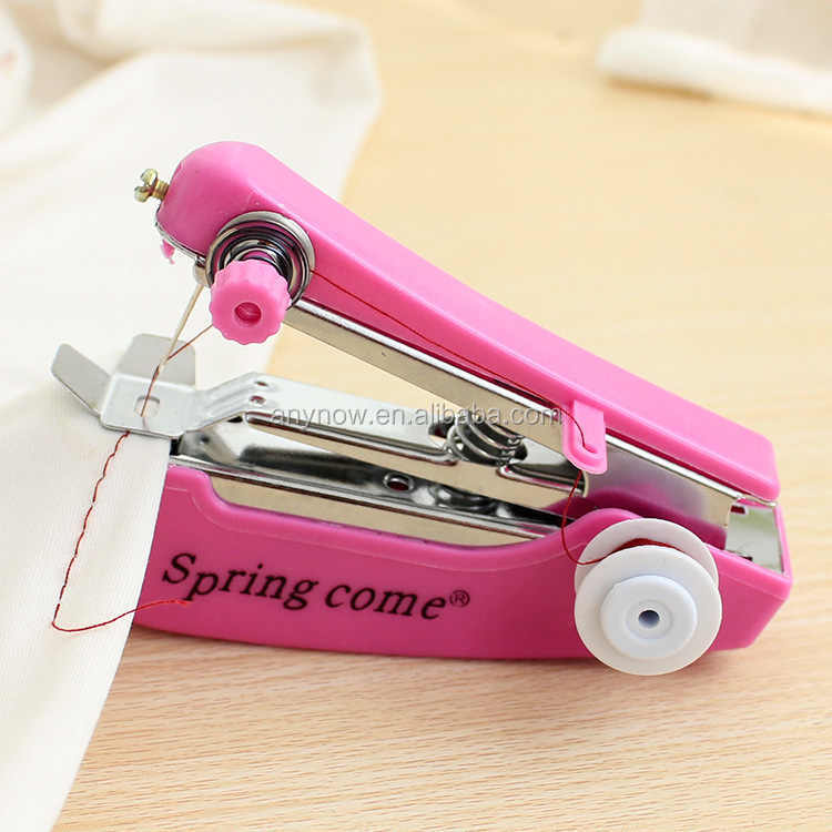 Multifunction portable manual mini hand operated sewing machine