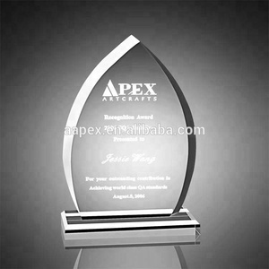 Custom Retail Blank Clear Crystal Acrylic Trophy Award With logo