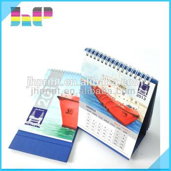 Print Spiral Bound 2016 2017 Daily Desk Calendar With Notepad