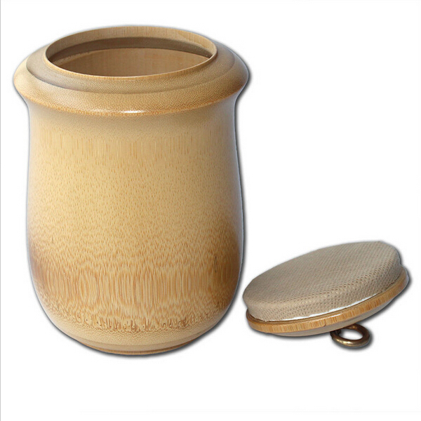 Natural bamboo airtight spices jars vintage coffee tea sugar jars sealed cans cover kitchen storage bottles 1200ml
