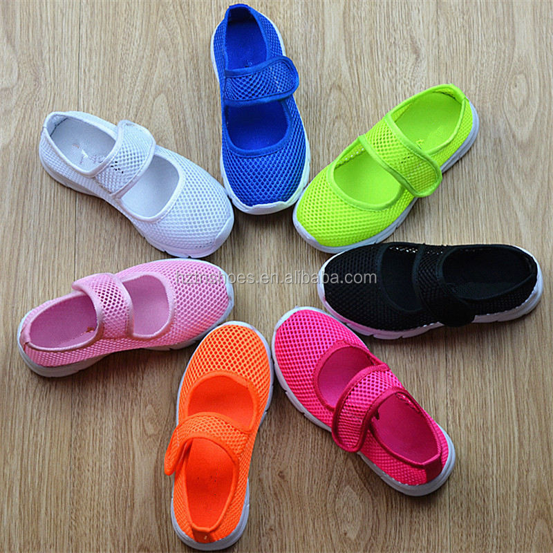 Summer Breatherable Mesh girls sneakers buckle strap mary jane girls casual sport shoes for boys