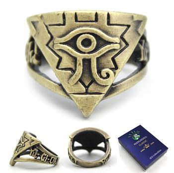 Anime Yu Gi Oh Millennium Eyes Logo Hallow Bronze Ring
