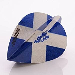 9 x WINMAU MEGA PEAR DARTS FLIGHTS SCOTLAND FLAG ST ANDREWS LION ( 3 sets ) by PerfectDarts