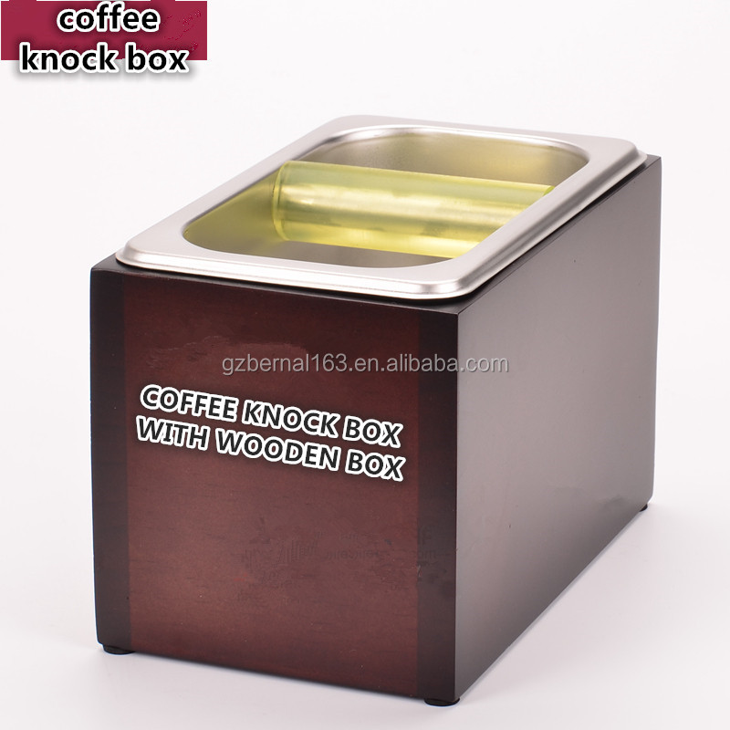 <strong>coffee</strong> knock box,knock box <strong>coffee</strong>, Stainless steel comercial <strong>coffee</strong> knock box with wooden case