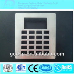 Waterproof Stainless Steel ATM Metal Keyboard Front Panel