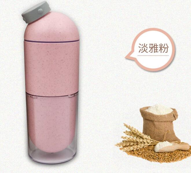 Wholesale And Retail 2018 Wheat Straw Capsule Bottle 500ML