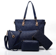 8963 Fashion Handbag for Women Designer Bag Handbag Bulk China Factory set bag 4 pieces in 1 set