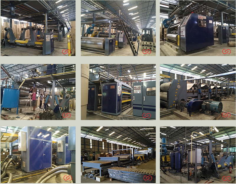 GIGA LXC-1500H Hydraulic Mill Roll Stand Corrugated Cardboard  Machine Price