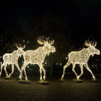 Giant Led Walking Moose Warm White Led Reindeer For Outdoor City Street Christmas Decoration View Giant Led Walking Moose Idessic Product Details