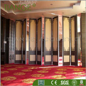 Office Movable Partition Sliding Door Bamboo