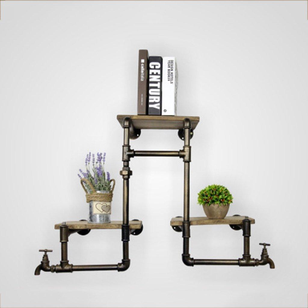 LQQGXL Storage and organization Shelf industrial phoenix pipe ledge indoor flower storage rack