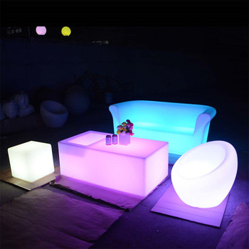 illuminated furniture rotational molding outdoor patio led furniture set sectional sofas chair table with lighting