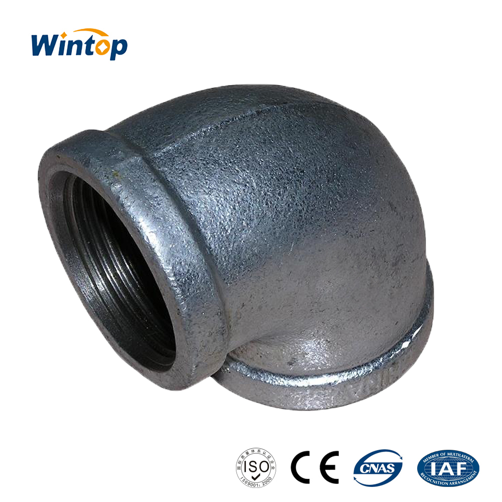malleable iron pipe fitting banded hot dipped galvanized female eblow Hebei