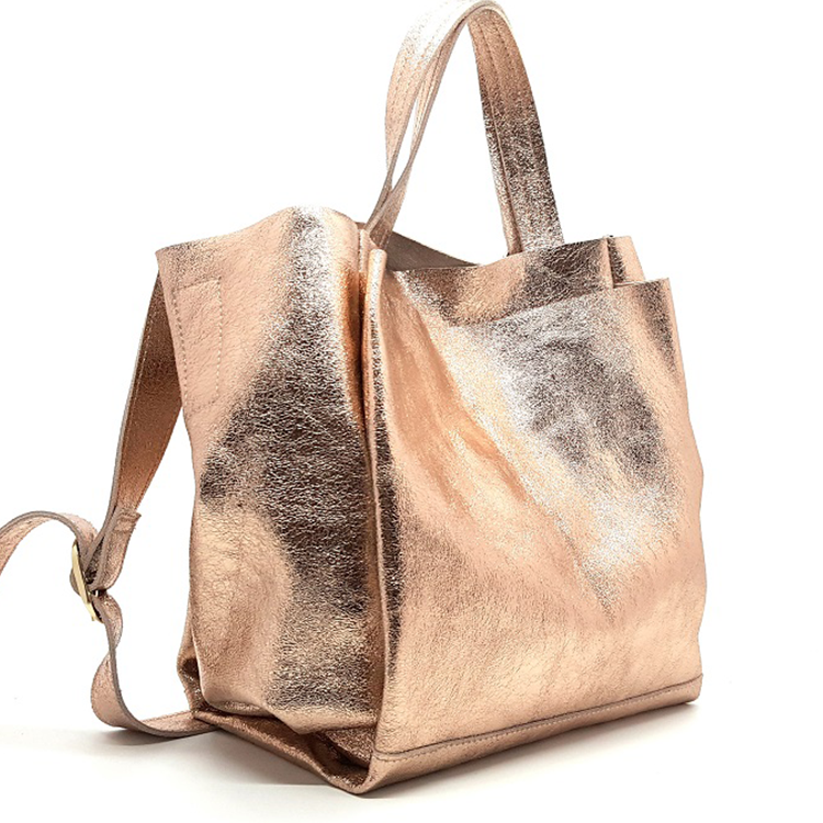 Alibaba Whole Cow Leather Rose Gold Genuine Tote Bags For Women