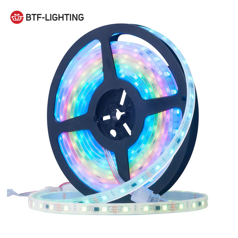 High quality 5m 30 48 60 leds/m  12v ws2811 best waterproof outdoor rgb led strip IP68