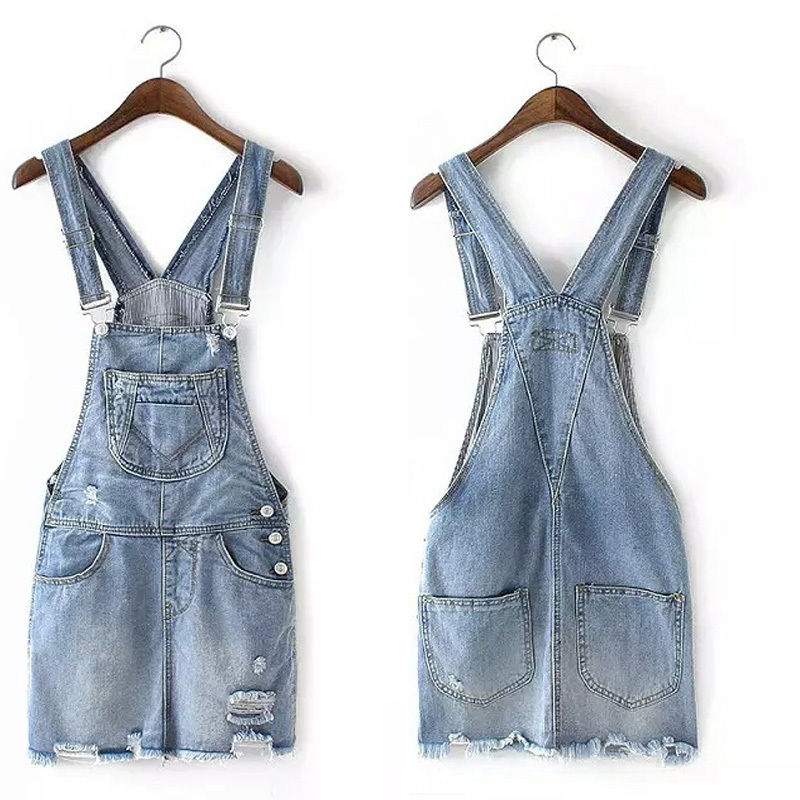 7ad0d1c596b Get Quotations · 2015 Summer denim overalls women skirts korean casual  vintage pleated mini jeans pinafore skirt coveralls free