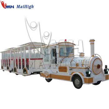 Cheap price outdoor amusement attraction 2 Carriages 40 Seats Electric Trackless Train