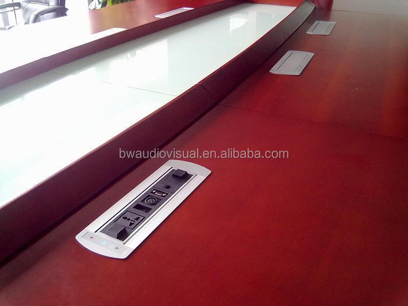 BW T66 Hidden Conference Table Cable Management/Multi Plug Rotating Desktop  Socket Outlet