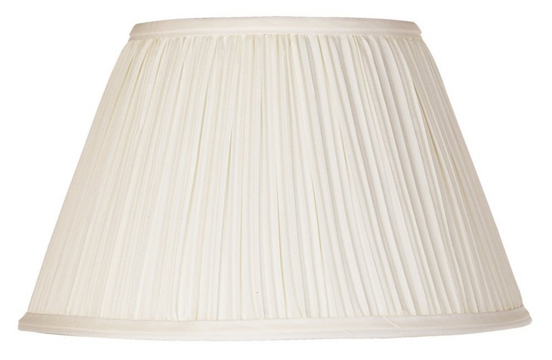 Upgradelights 12 Inch Washer Lamp Shade Replacement in Pleated Eggshell