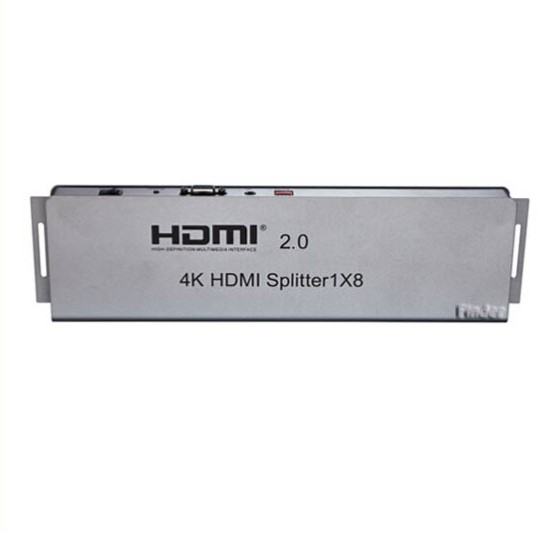 1x8 HDMI 2.0, 4 K * 2 K, IR extension, EDID RS232 management, HDMI Splitter 8 poorten