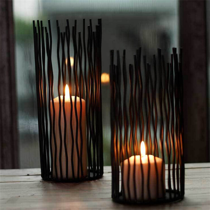 Wedding props ornaments wrought iron candle holders
