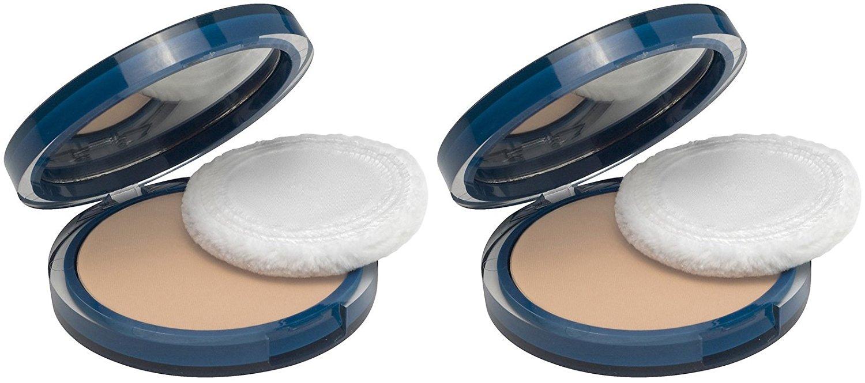CoverGirl Clean Oil Control Pressed Powder, Buff Beige (525), 2 Pack