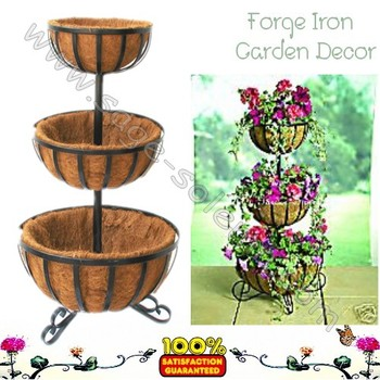 Decorative Wrought Iron 3 Tier Planter   Buy Iron Flower Stand,Wrought Iron  Planter Stands,Decorative Flower Pot Stands Product On Alibaba.com