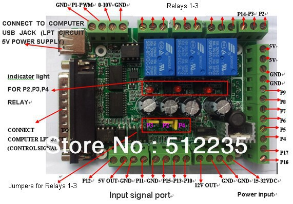 Interface Board Mach3 Interface Board Diy Cnc 6 Axis Pc Fan Wiring Diagram Fan Wiring Diagram