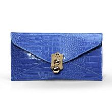 Fair good materials deft design PU navy clutch handbag