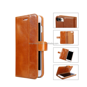 Genuine Leather Case for iPhone 7 Plus with Card slot Wallet Folio Flip 5.5''