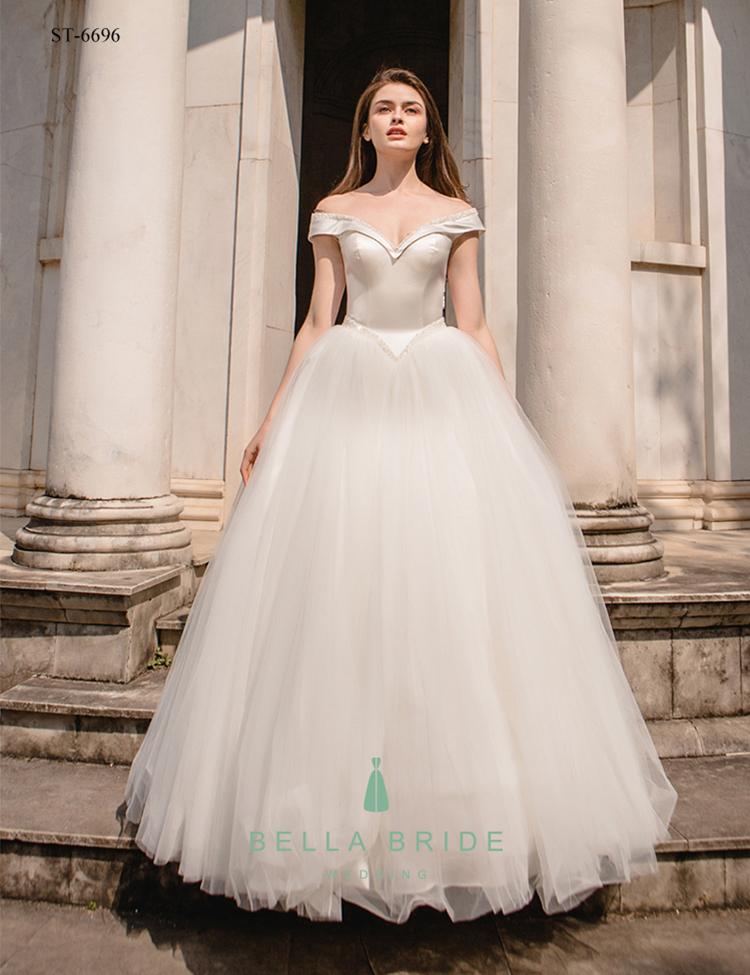 Alibaba Wedding Dress Decent Ball Gown Dress Design Beaded Pearls ...