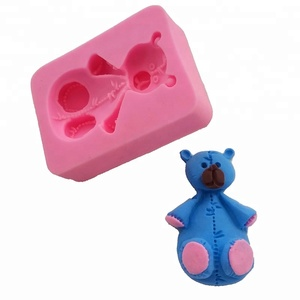 DIY Popular Lovely Bear Shape Cake Decorating Tools Baking Mold Fondant Silicone Mold