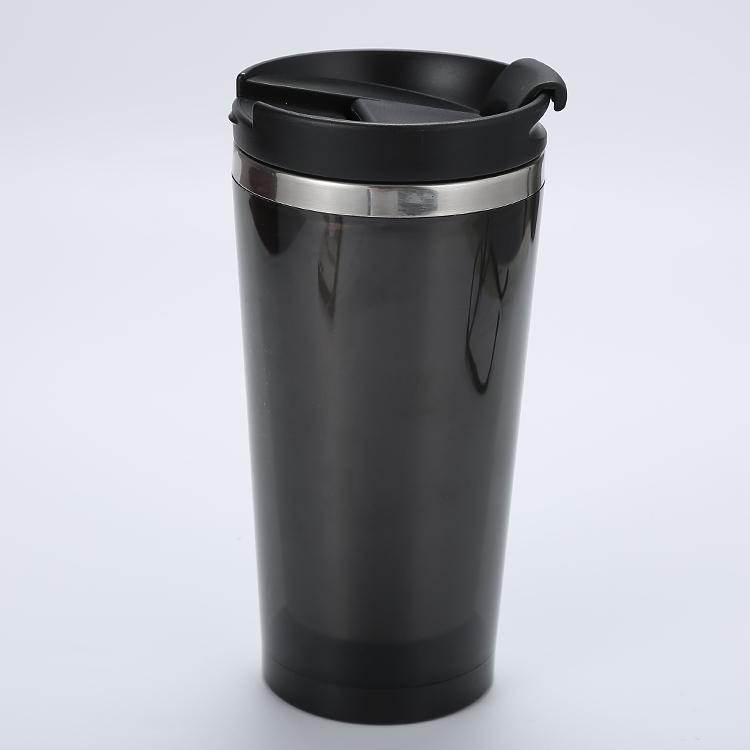 2019 Factory Price Cheap Wholesale plastic Coffee Travel Mug, Promotional Custom Logo Printed plastic Coffee Mug